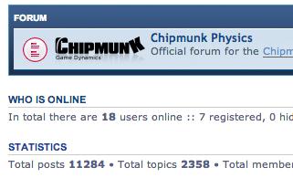 Chipmunk2D Physics